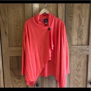 Asymmetrical cape sweater